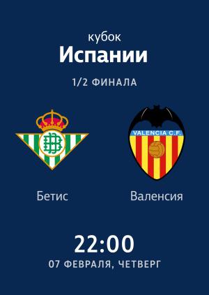 1/2 Кубка Испании: Бетис - Валенсия. Гол Хоакина.
